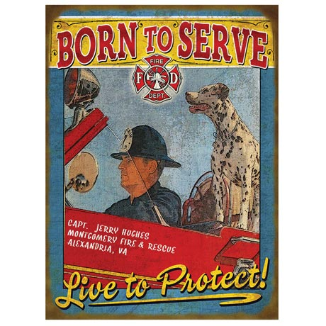 Personalized Service Sign - Firefighter