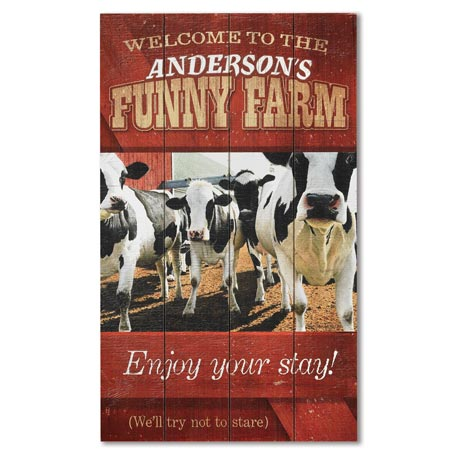 Personalized Funny Farm Wood Sign