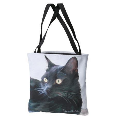 Cat Tote Bag - Black