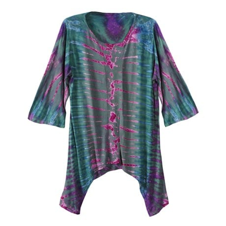 "Tie Dye Tunic Top for Women ""Morning Sky"" Pullover Cover Up"