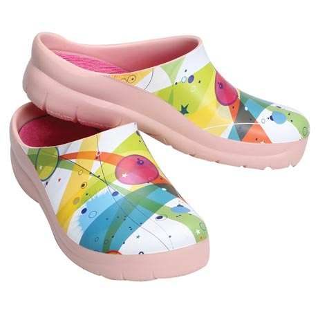 Abstract Art Garden Clogs