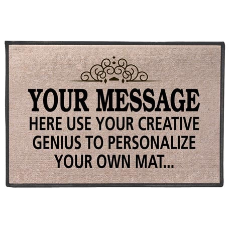 Your Message Here Personalized Doormat