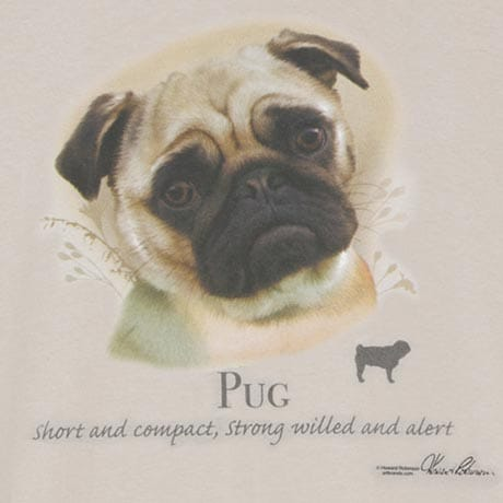 Pug Dog Breed Cotton T-Shirt and Womens Cotton Blend Socks Sets