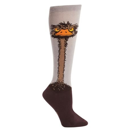 Wildlife Knee-Highs - Ostrich
