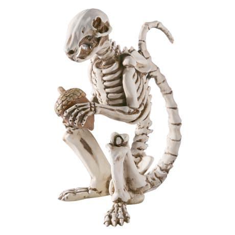 Skel E Squirrel Skeleton Garden Sculpture in Cast Resin