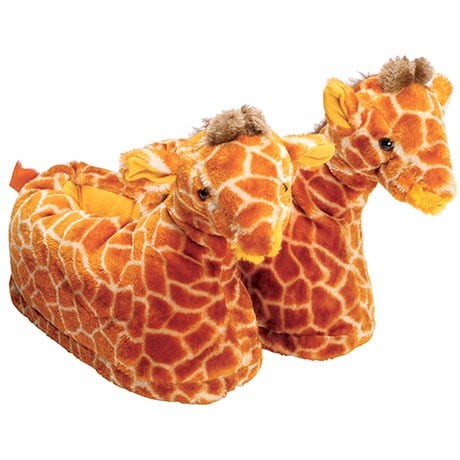 Comfy Feet Plush Slippers with Giraffe