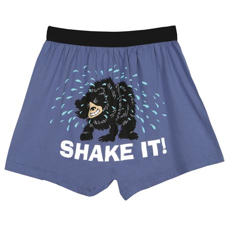 Shake It Funny Boxers with Bear in Cotton with Elastic Waist