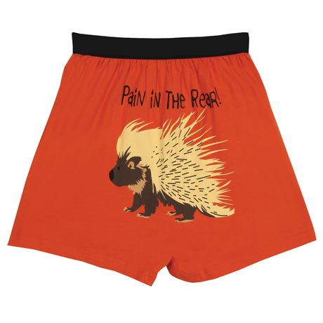 Pain in the Rear Funny Boxers with Porcupine in Cotton with Elastic Waist