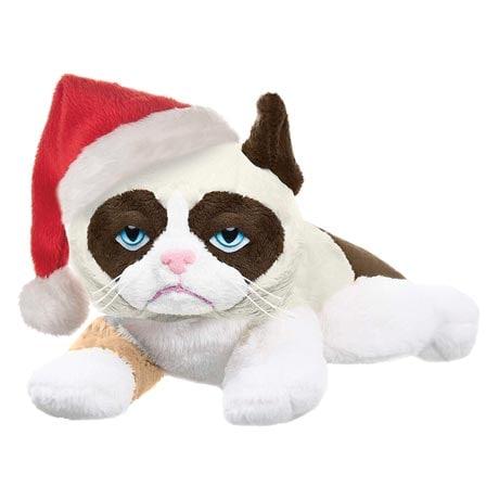 Grumpy Santa Cat