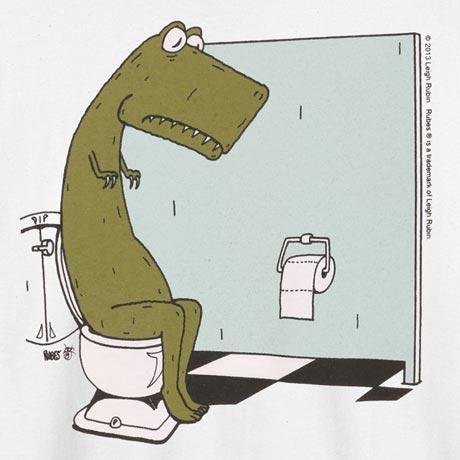 T-Rex Bathroom T-Shirt