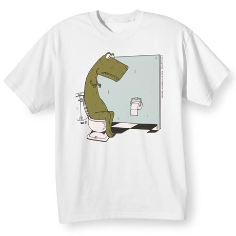 T-Rex Bathroom T-Shirt