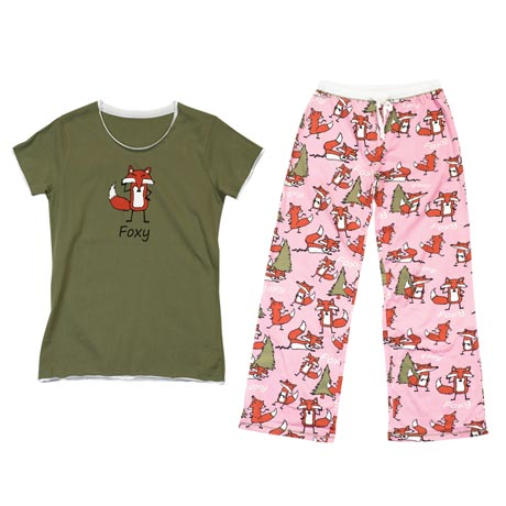 Foxy Lady Sleepwear - PJ T-Shirt & Pant Set