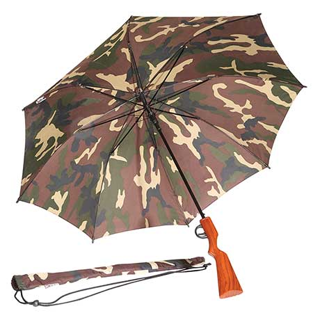 Camouflage Rifle Umbrella with Trigger Opener