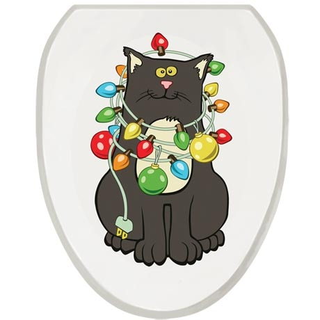 Christmas Cat Toilet Tattoo