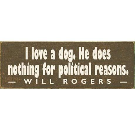 I Love A Dog Plaque