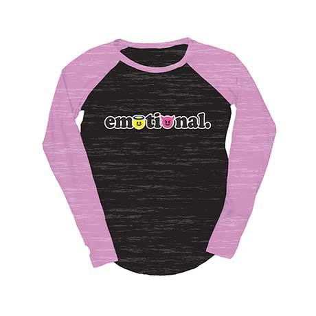 Juniors Baseball  T-Shirt - Emotional
