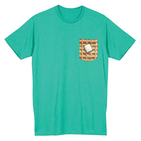 Foodie Pocket T-Shirt - Waffle