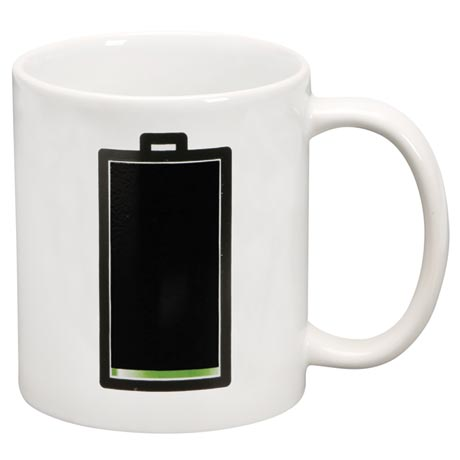 Fully Charged Morphing Battery Mug