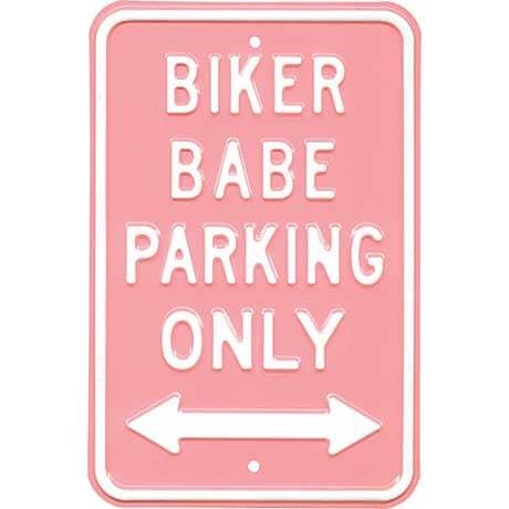 Biker Babe Parking Sign