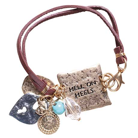 Hell On Heels Leather Bracelet