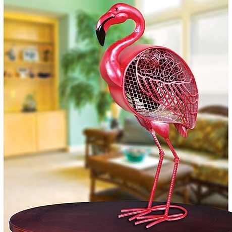 "Flamingo Figurine Fan by Deco Breeze 19 1/4"" Tall"