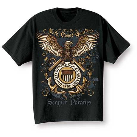 Golden Eagle Military T-Shirts - Coast Guard