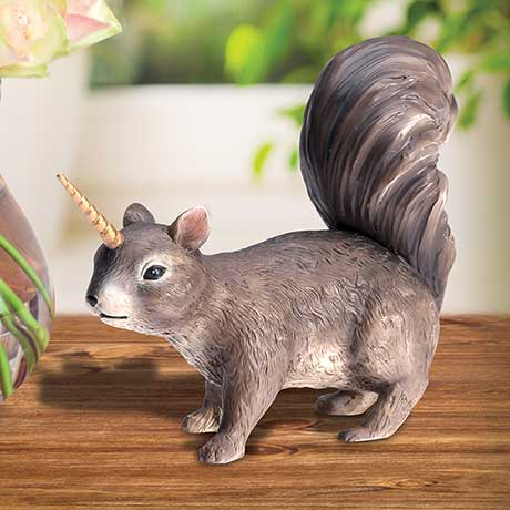 Uni-Squirrel Sculpture Squirrel Unicorn