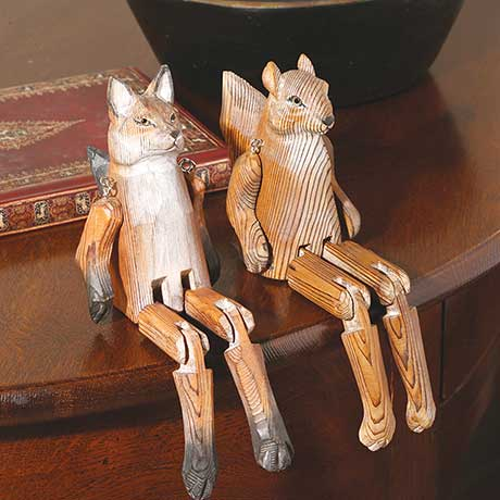 Handcarved Shelf Sitters- Fox