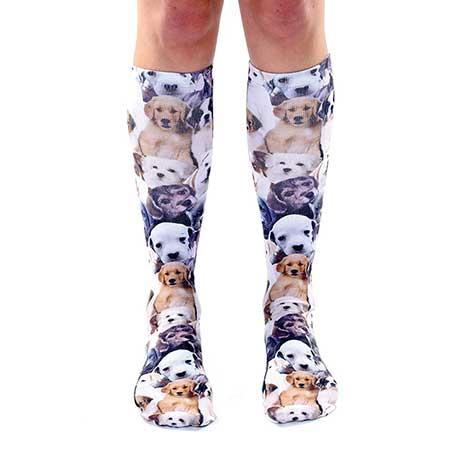 Puppy Knee High Socks