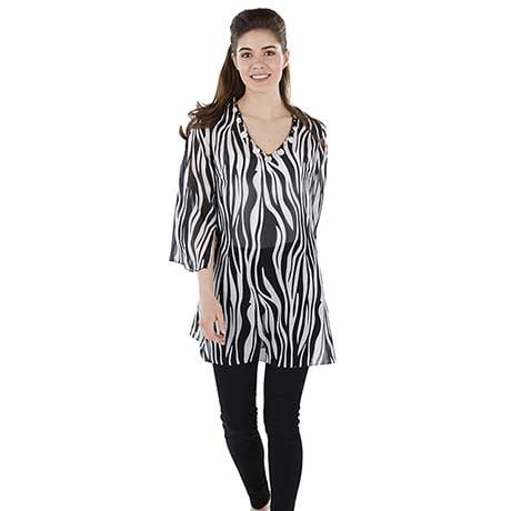 Animal Print Tunic/Cover Up Zebra