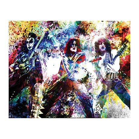 Kiss Gods Of Thunder Stretched Canvas