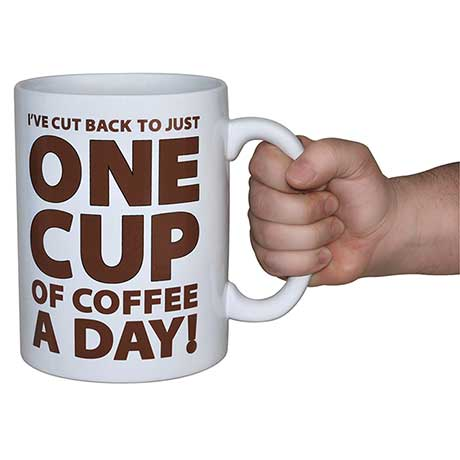 Giant One Cup of Coffee Mug Holds Entire Pot of Coffee