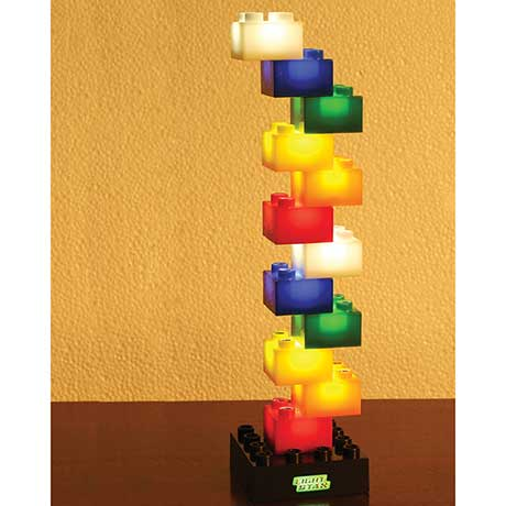 LED Light Up Building Blocks Set of 12