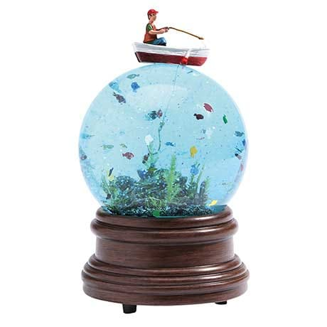 Fisherman Water Globe
