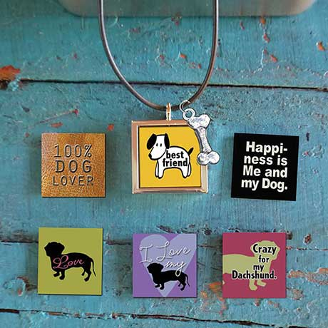Dog Breed Interchangeable Magnetic Necklace Sets