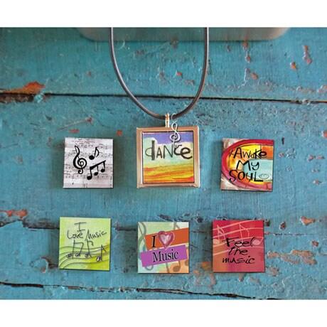 Interchangable Magnetic Necklace Sets- Music