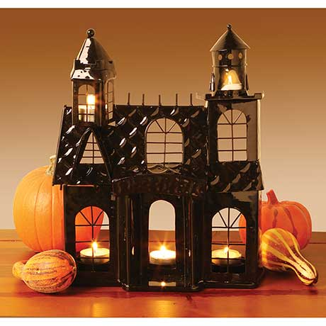 Haunted House Votive Holder