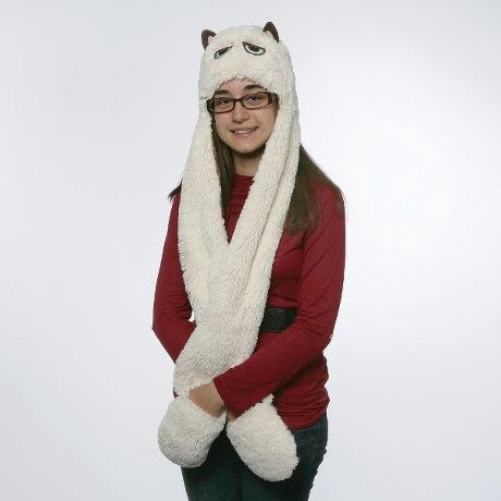 Grumpy Cat Scarf/Hat