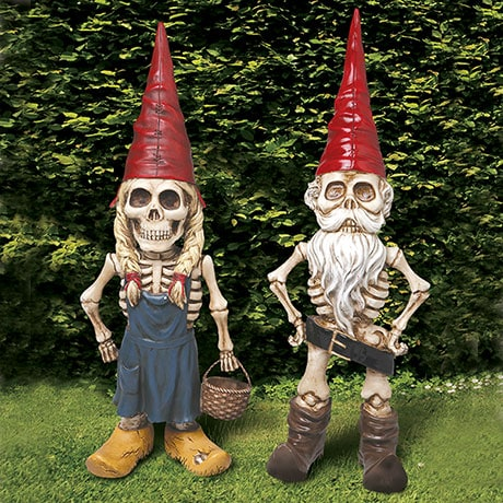 Exclusive Man And Woman Skel -A- Gnome Garden Statue Sculpture Gift Set