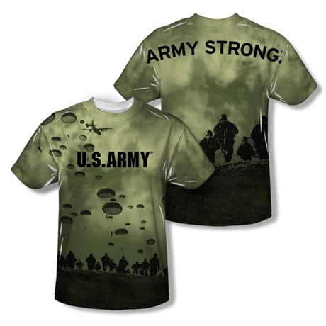 Military Sublimated Army Air To Land T-Shirt