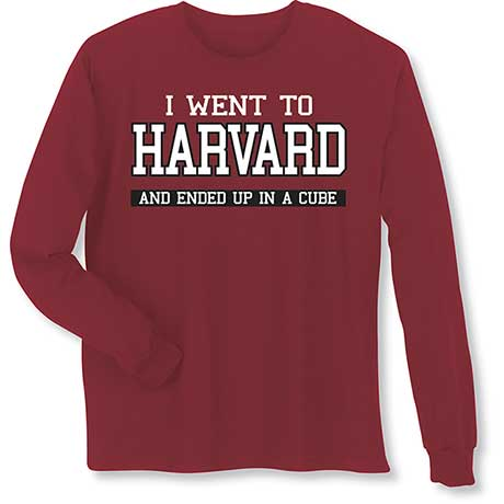 "Personalized I Went To ""Your School"" Long Sleeve T-Shirt"