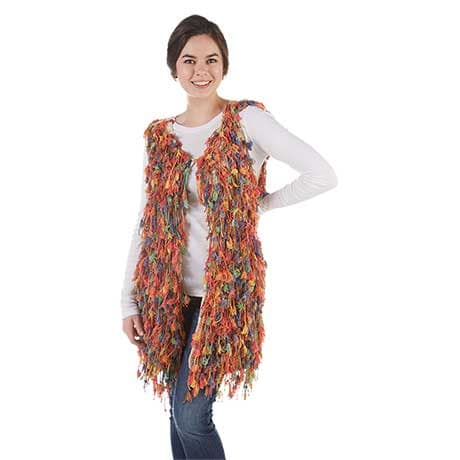 Multi-Colored Fringe Vest