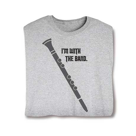 I'm With The Band Long Sleeve T-Shirt- Clarinet