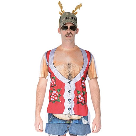 Sublimated Holiday Redneck Vest T-Shirt