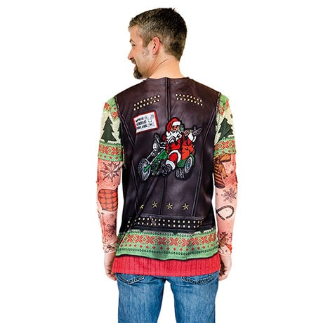 Sublimated Holiday Morocycle Leather Vest T-Shirt