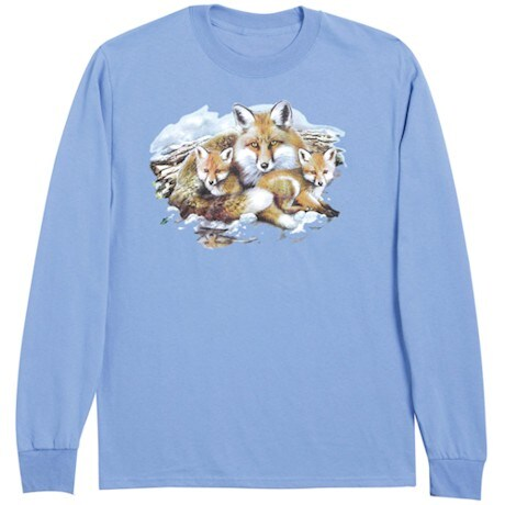 Fox Family Animal Long Sleeve T-Shirt