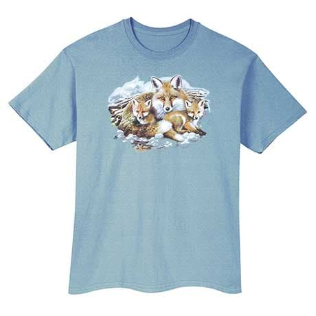 Fox Family Animal T-Shirt