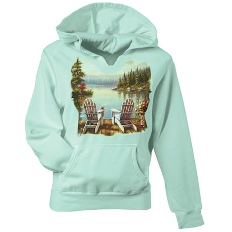 Lake Morning Coffee Hooded Sweatshirt