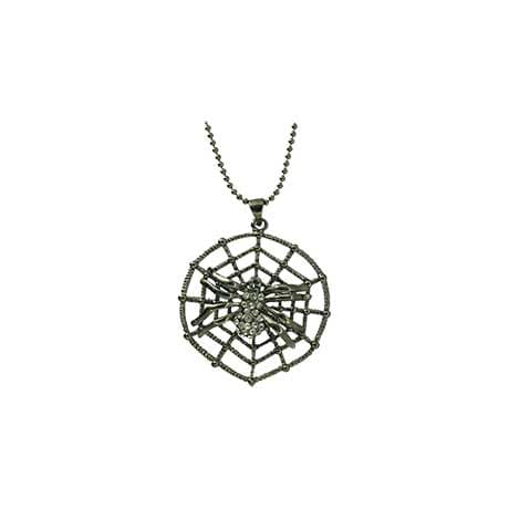 Spider Web Necklace & Earrings Set