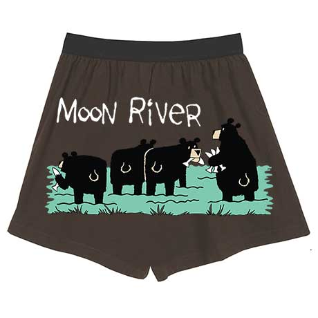 Comical Boxers- Moon River